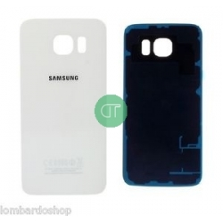 back cover glass galaxy s6 bianco